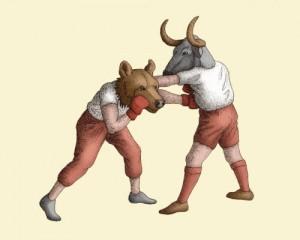Bull Vs. Bear by Allison Guy