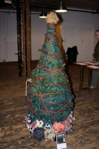 Ian Trask's famous Christmas tree creation.